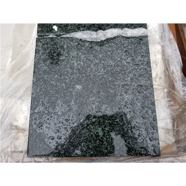 """PALLET OF APPROX 300 PCS OF 12X12"""" JADE GREEN TILE"""