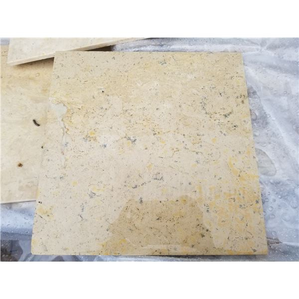 """PALLET OF APPROX 250 PCS OF 12X12"""" CLASSIC BEIGE TILE"""