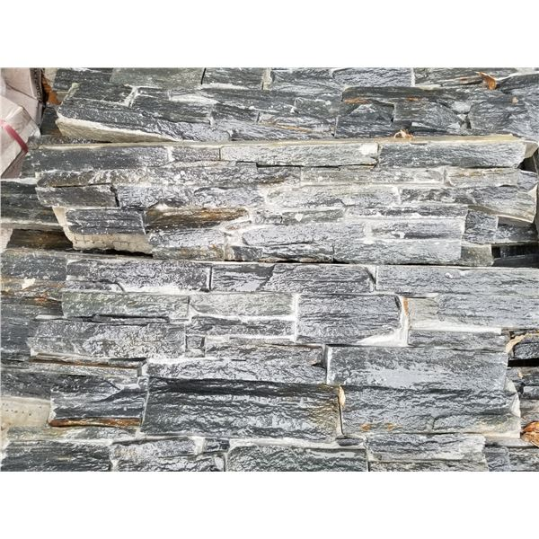 """2 PALLETS OF 24"""" GREY WALL STONE"""