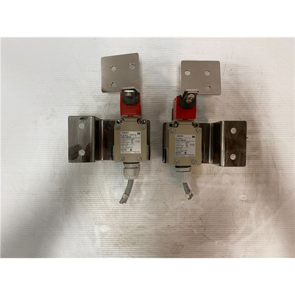 (2) Omron # D 4 B S - 55FS Limit Switches
