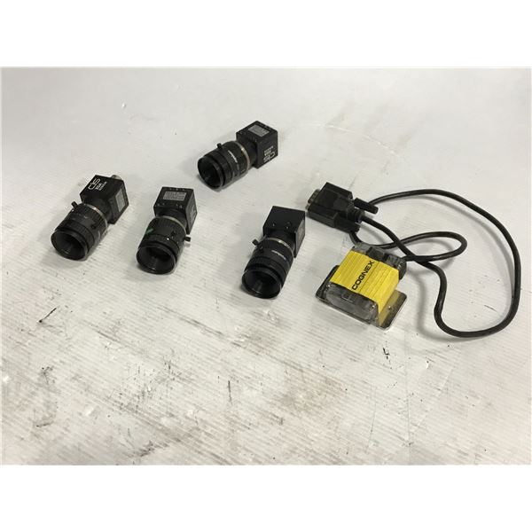 Lot of (5) CIS Industrial Cameras / Plus One Cognex Sensor