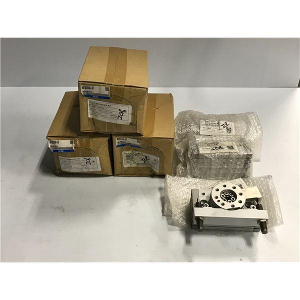 Lot of (6) SMC #MSQB100R-XF / #MSQA50H2-XF Rotary Actuator