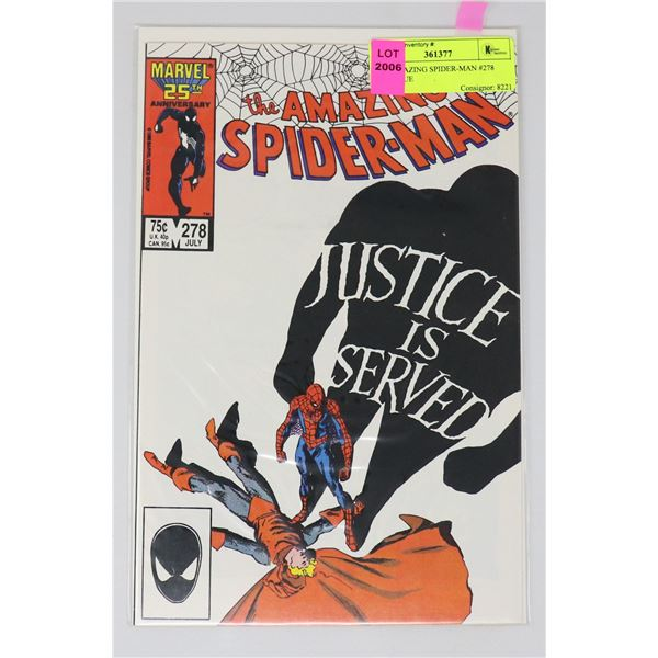 THE AMAZING SPIDER-MAN #278 KEY ISSUE