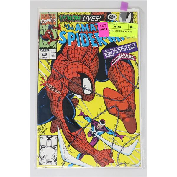 THE AMAZING SPIDER-MAN #345 KEY ISSUE