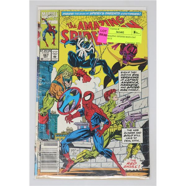 THE AMAZING SPIDER-MAN #367 KEY ISSUE