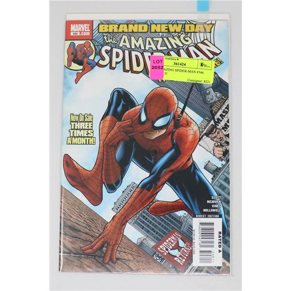 THE AMAZING SPIDER-MAN #546 KEY ISSUE
