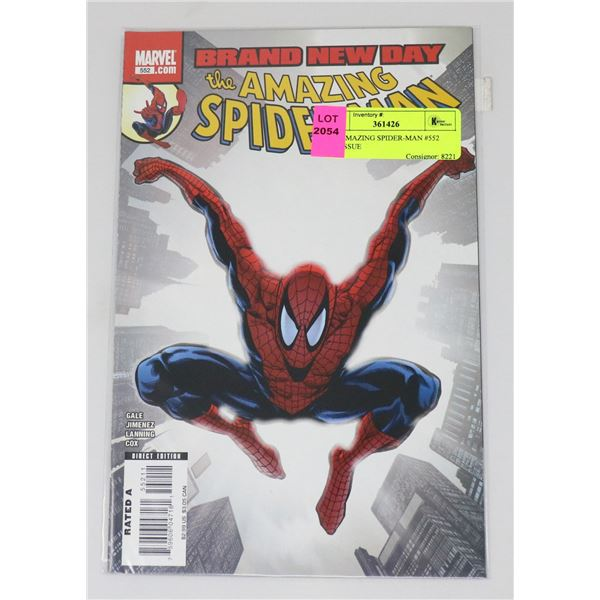 THE AMAZING SPIDER-MAN #552 KEY ISSUE