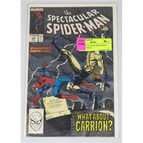 THE SPECTACULAR SPIDER-MAN #149 KEY ISSUE