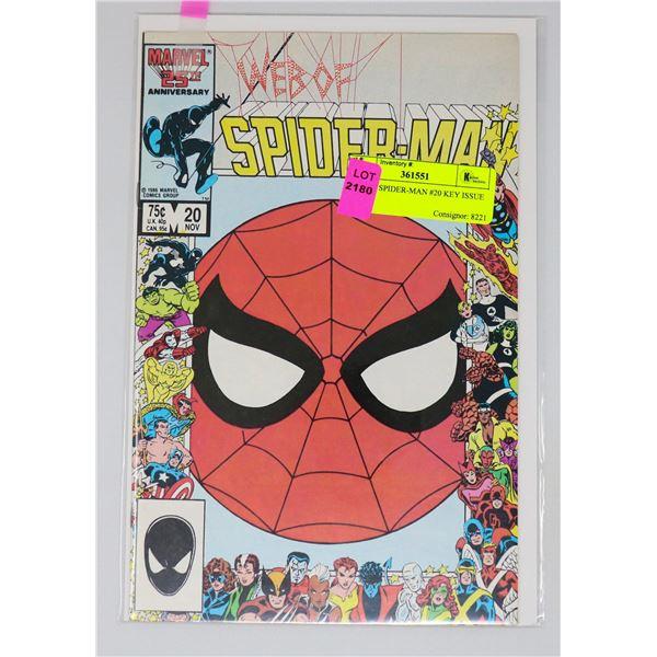 WEB OF SPIDER-MAN #20 KEY ISSUE
