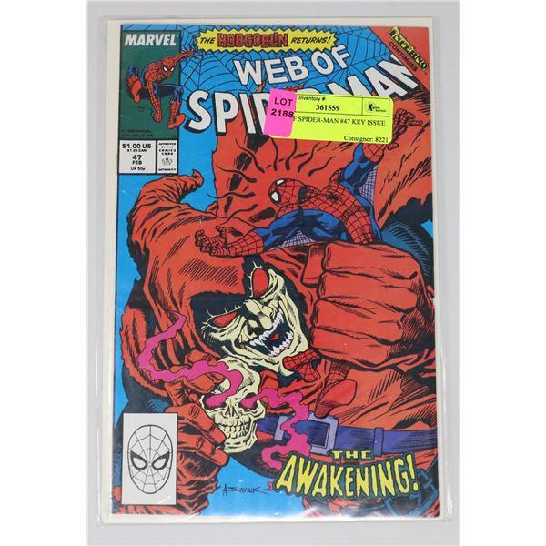 WEB OF SPIDER-MAN #47 KEY ISSUE