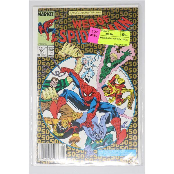 WEB OF SPIDER-MAN #50 KEY ISSUE