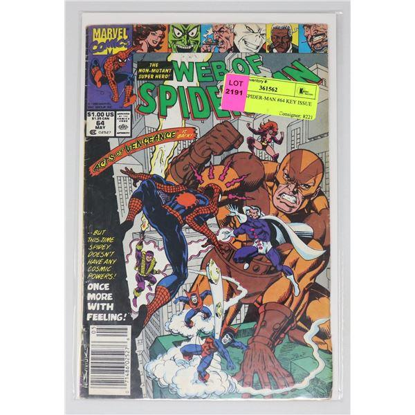 WEB OF SPIDER-MAN #64 KEY ISSUE