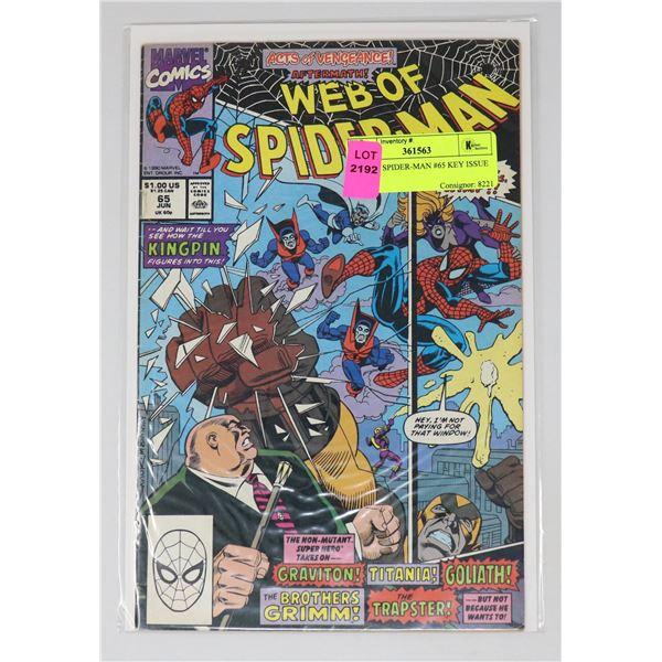 WEB OF SPIDER-MAN #65 KEY ISSUE