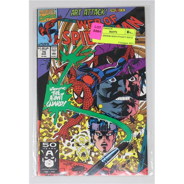 WEB OF SPIDER-MAN #74 KEY ISSUE