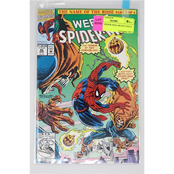 WEB OF SPIDER-MAN #86 KEY ISSUE