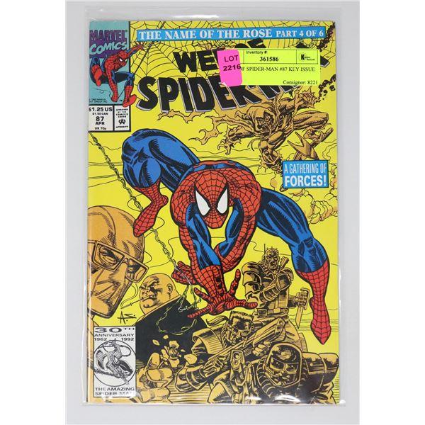 WEB OF SPIDER-MAN #87 KEY ISSUE