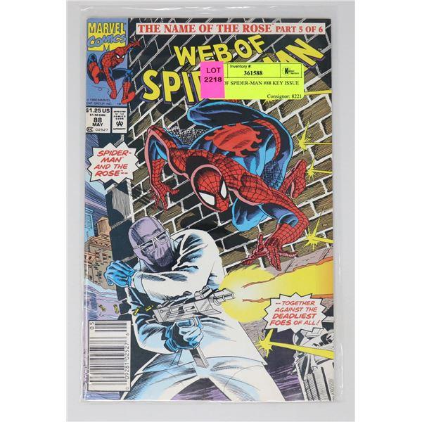 WEB OF SPIDER-MAN #88 KEY ISSUE