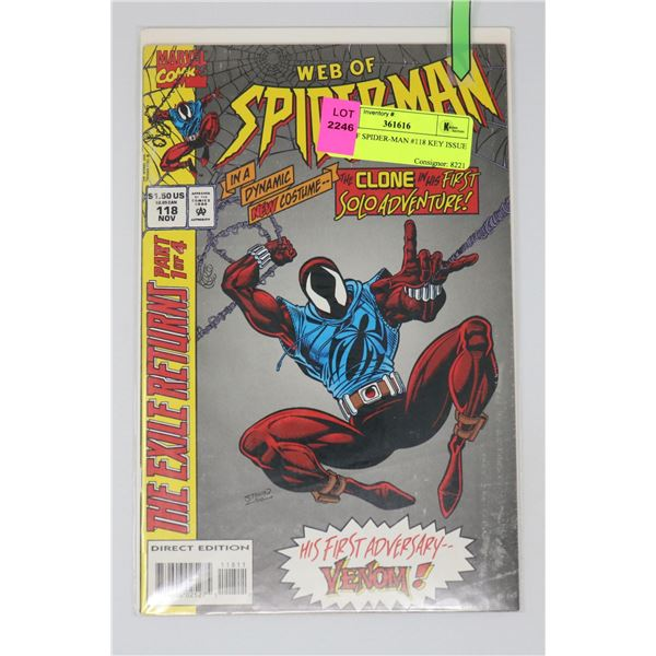 WEB OF SPIDER-MAN #118 KEY ISSUE