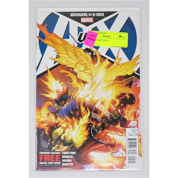 A VS X #5 KEY ISSUE