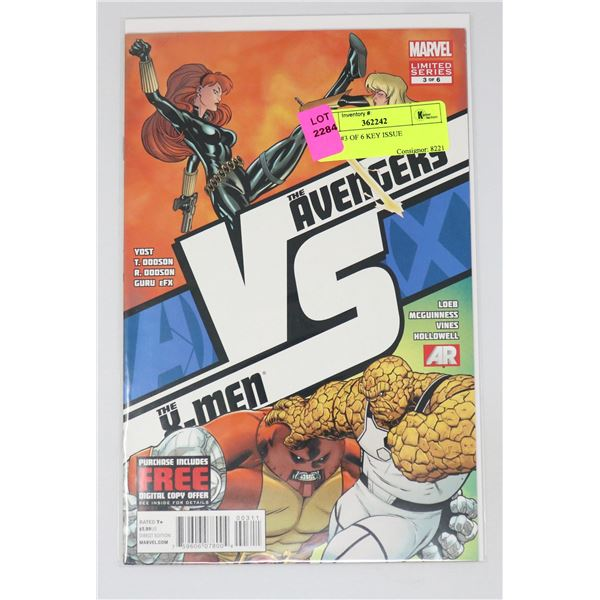 A VS X #3 OF 6 KEY ISSUE