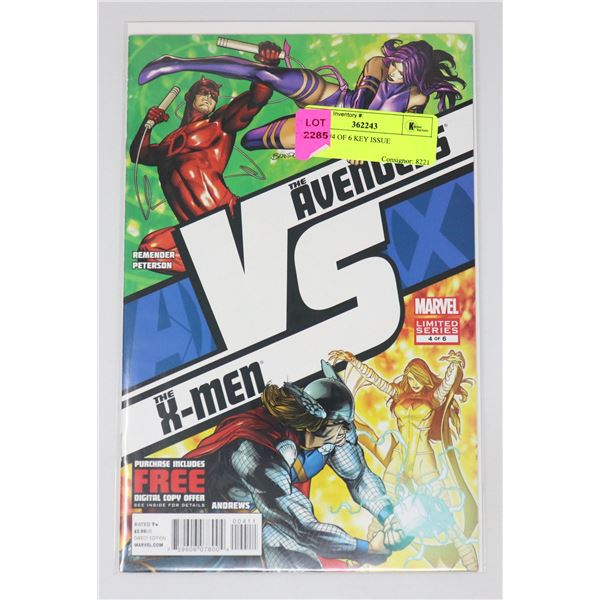 A VS X #4 OF 6 KEY ISSUE