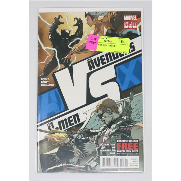 A VS X #5 OF 6 KEY ISSUE