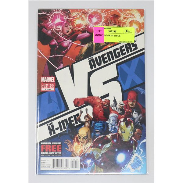 A VS X #6 OF 6 KEY ISSUE
