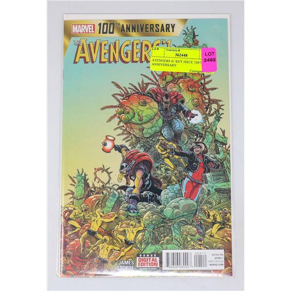 AVENGERS #1 KEY ISSUE 100TH ANNIVERSARY