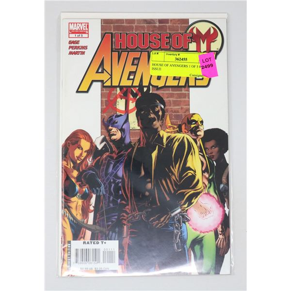 HOUSE OF AVENGERS 1 OF 5 KEY ISSUE