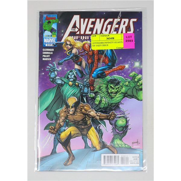 AVENGERS INFINITY GUANTLET #3 OF 4 KEY ISSUE