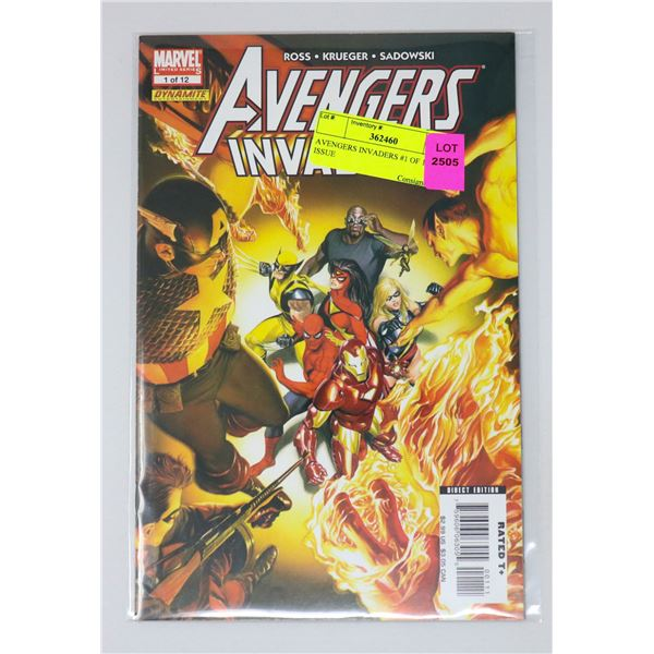 AVENGERS INVADERS #1 OF 12 KEY ISSUE