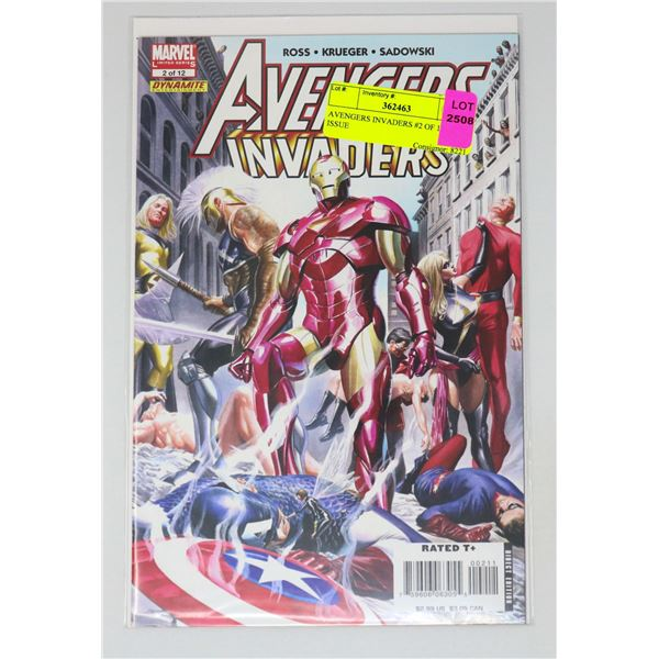 AVENGERS INVADERS #2 OF 12 KEY ISSUE