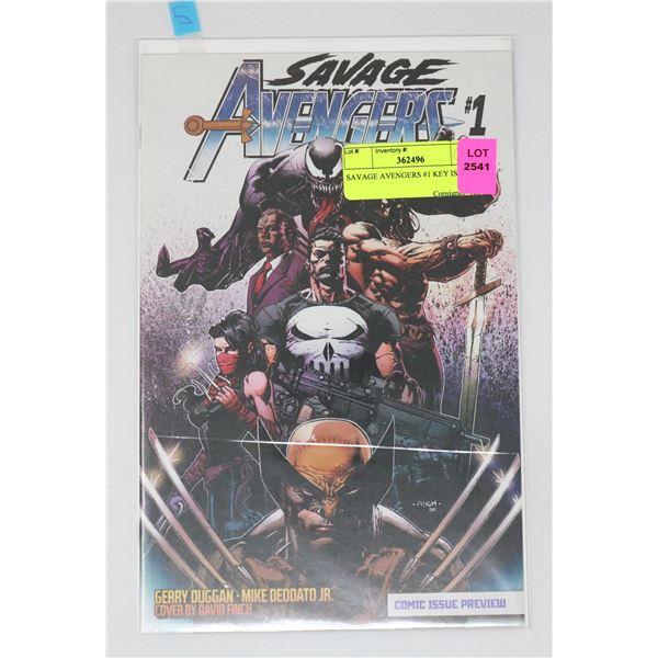 SAVAGE AVENGERS #1 KEY ISSUE