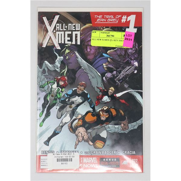 ALL NEW X-MEN #22 KEY ISSUE