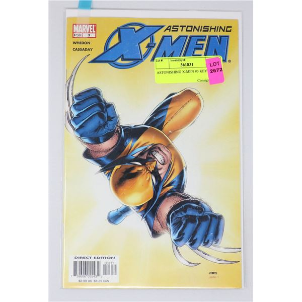 ASTONISHING X-MEN #3 KEY ISSUE