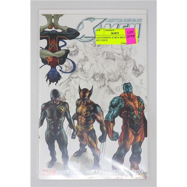 ASTONISHING X-MEN SKETCHBOOK KEY ISSUE