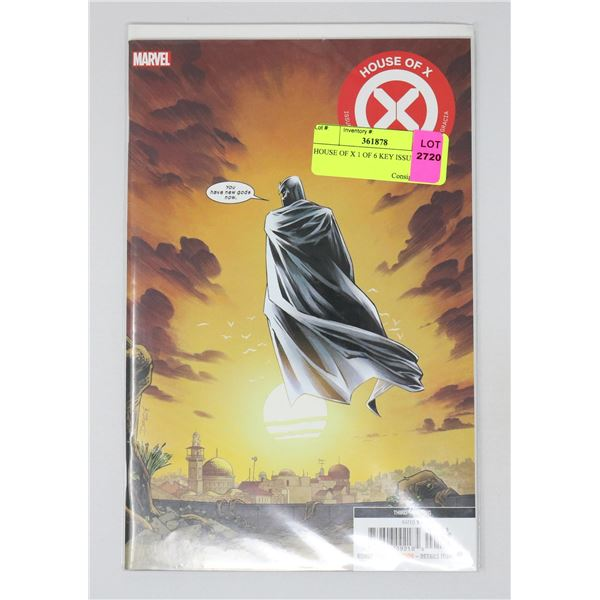 HOUSE OF X 1 OF 6 KEY ISSUE
