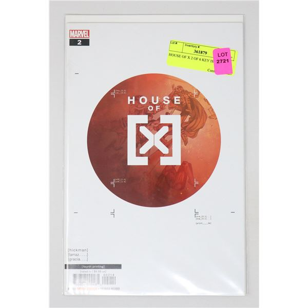HOUSE OF X 2 OF 6 KEY ISSUE