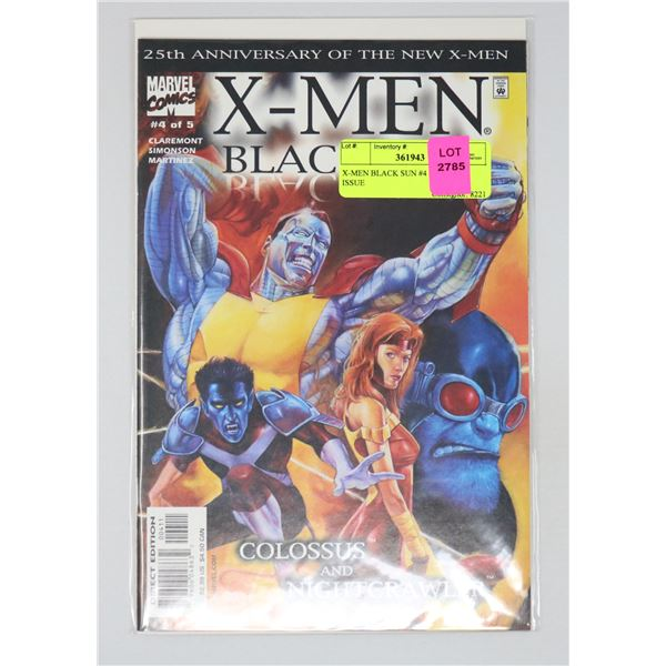 X-MEN BLACK SUN #4 OF 5 KEY ISSUE
