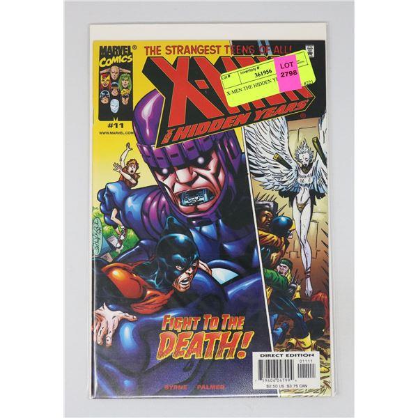 X-MEN THE HIDDEN YEARS #11