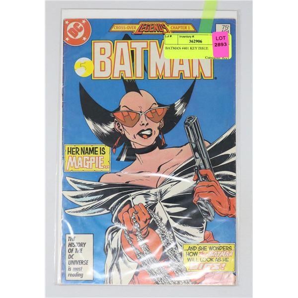 BATMAN #401 KEY ISSUE