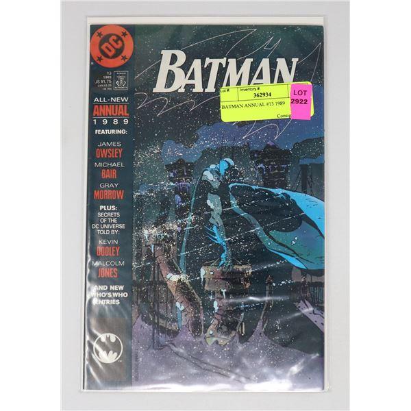 BATMAN ANNUAL #13 1989
