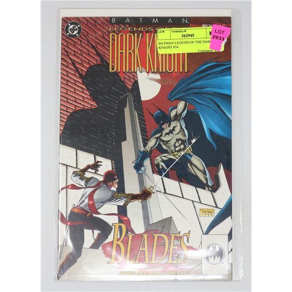 BATMAN LEGEND OF THE DARK KNIGHT #34