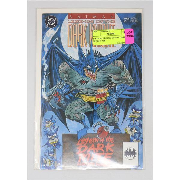 BATMAN LEGEND OF THE DARK KNIGHT #38