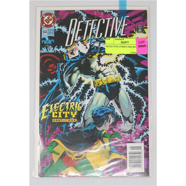 DETECTIVE COMICS #644 KEY ISSUE