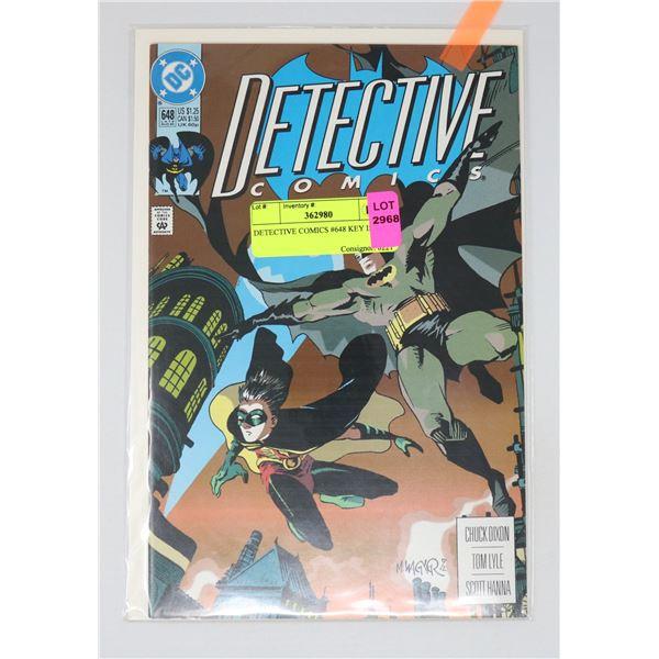 DETECTIVE COMICS #648 KEY ISSUE