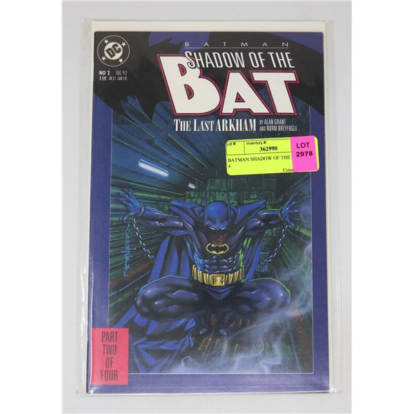 BATMAN SHADOW OF THE BAT 2 OF 4