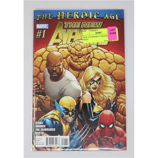 NEW AVENGERS #1 HEROIC AGE KEY ISSUE