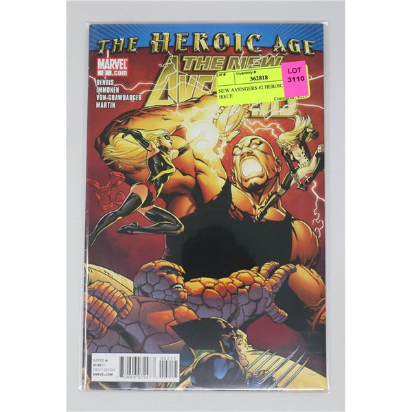 NEW AVENGERS #2 HEROIC AGE KEY ISSUE