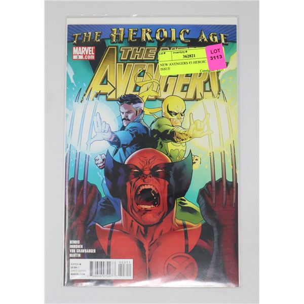 NEW AVENGERS #3 HEROIC AGE KEY ISSUE